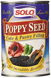 Solo Poppy Seed Cake & Pastry Filling (12.5 oz Cans) 2 Pack