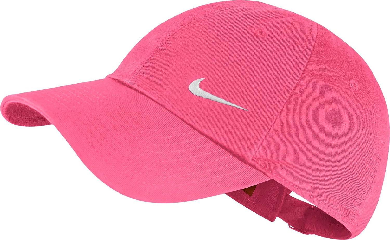 Nike Heritage Swoosh Cap Gorra, Mujer, Rosa (Dynamic Pink/White ...
