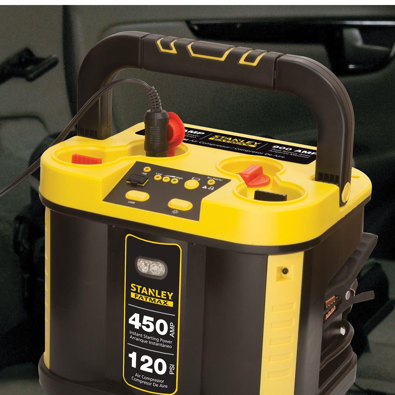 Amazon Stanley Fatmax 450 Jump Starter Amp With Compressor