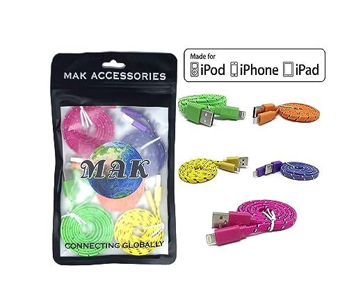 37 opinioni per 5 PACK MAK POWER 1 METR0 COLORE ROSA Cavo nylon intrecciato USB caricatore e
