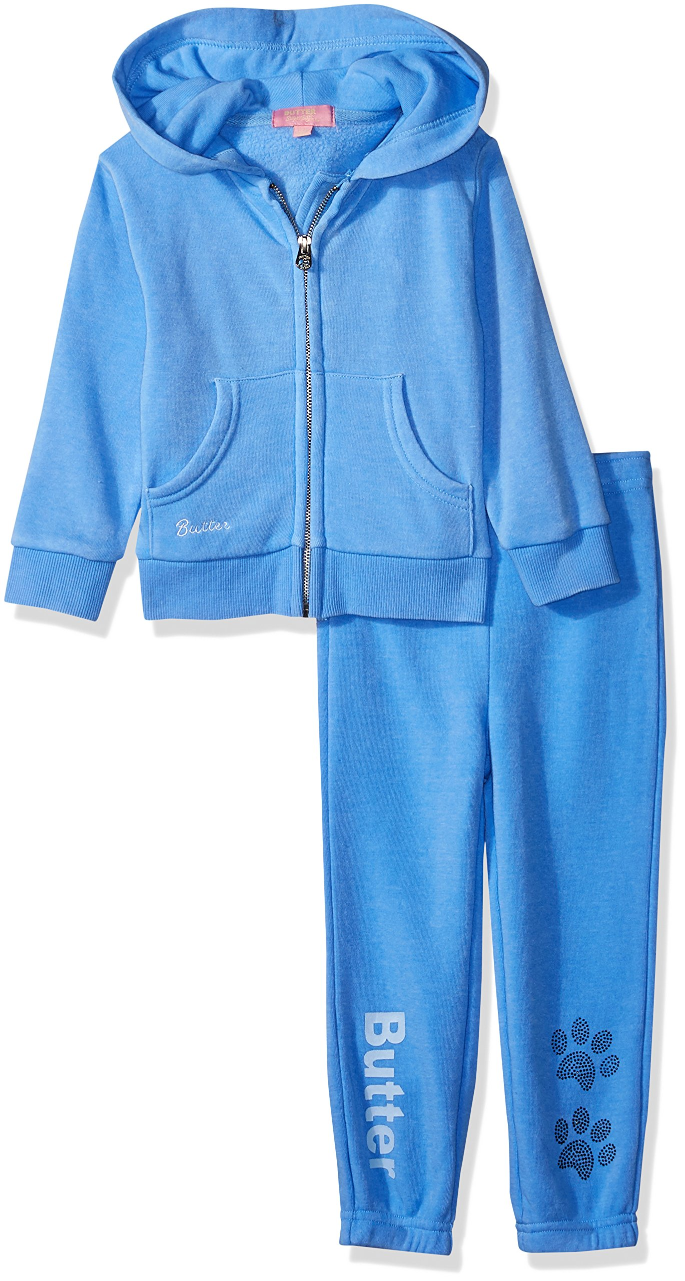 Butter Baby Girls Fleece Set, Della Robbia Blue, 18M by Butter
