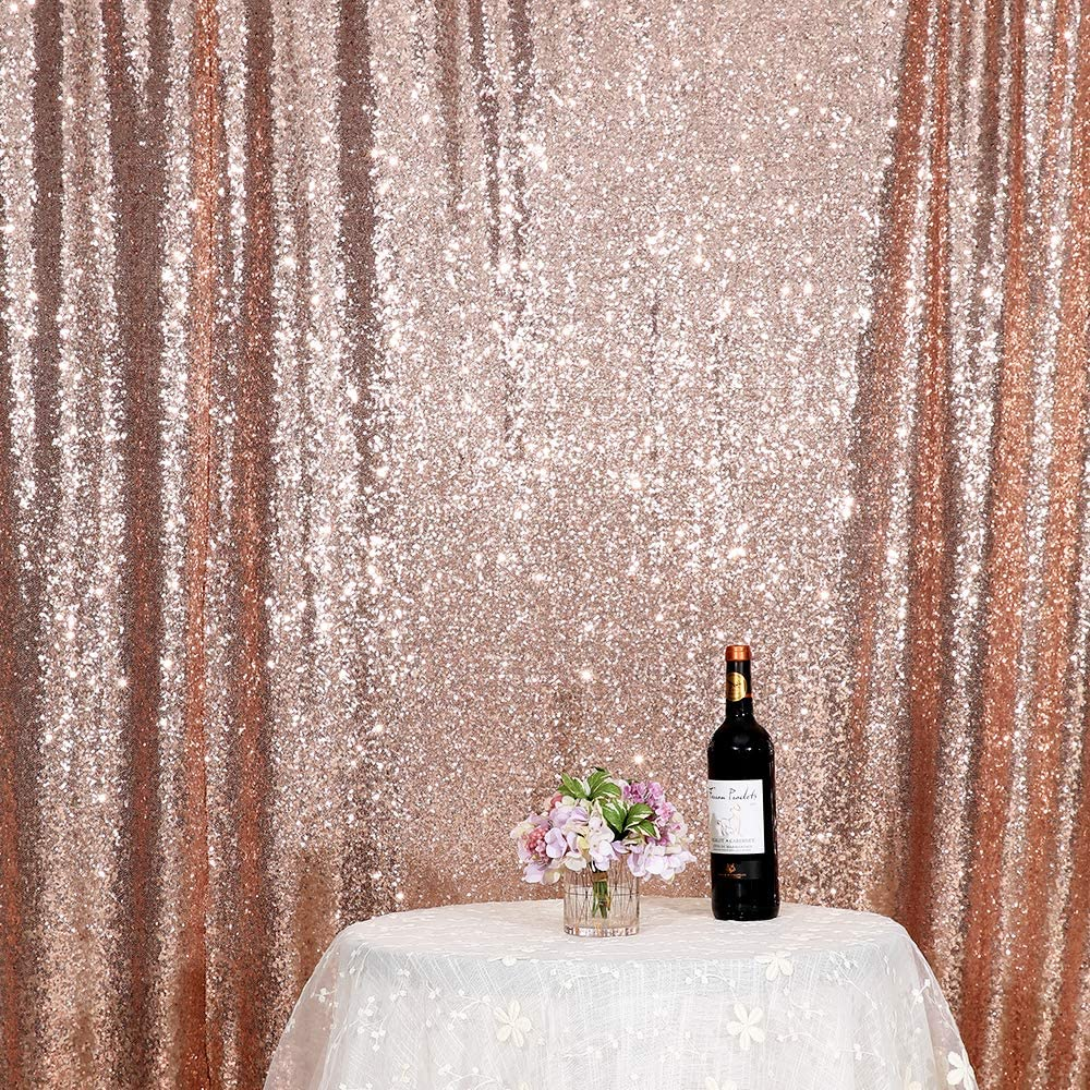 Iridescent Poise3EHome 6FT x 6FT Sequin Photography Backdrop Curtain for Party Decoration