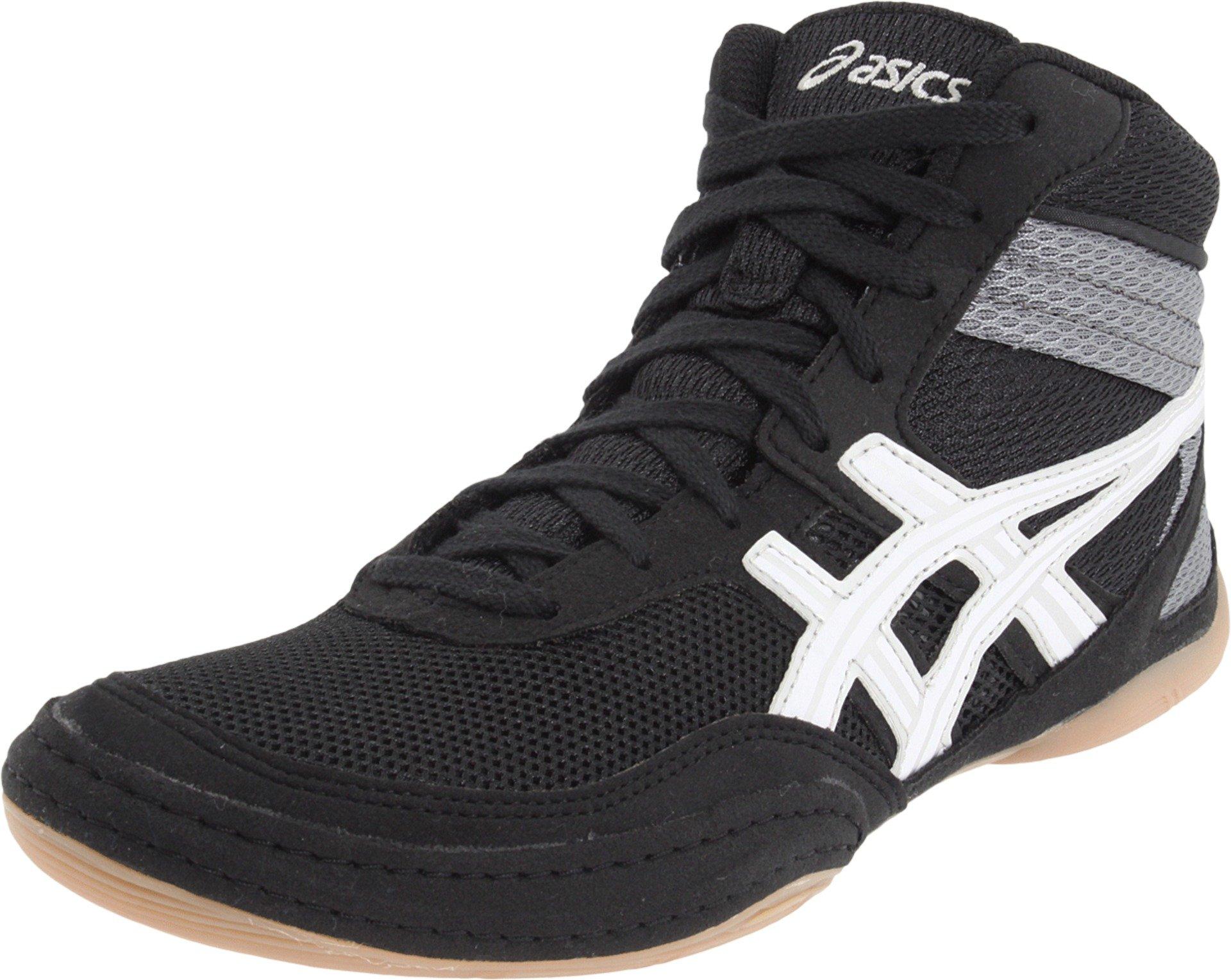 ASICS Men's Matflex 3 Wrestling Shoe,Black/White,9.5 M US