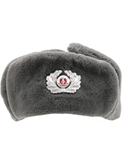 62fb13996cf Genuine German Army Grey NVA Trapper Hat with Cockade Unissued Surplus