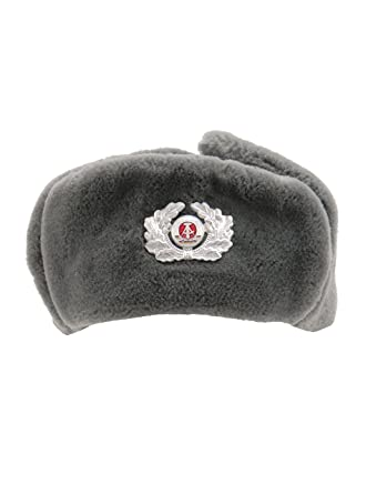 52cf773749f Genuine German Army Grey NVA Trapper Hat with Cockade Unissued Surplus (52)