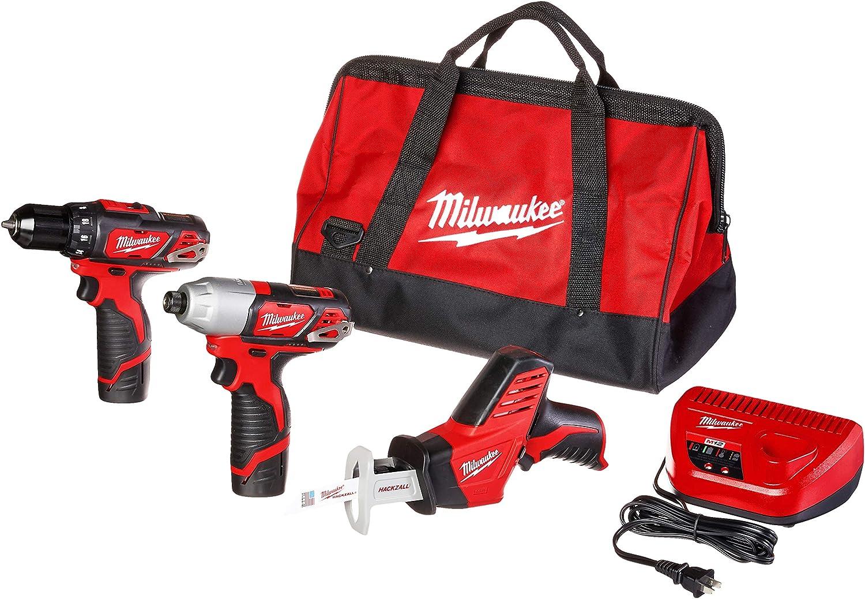 Milwaukee 2498-23 M12 3 Piece Cordless Combo Kit