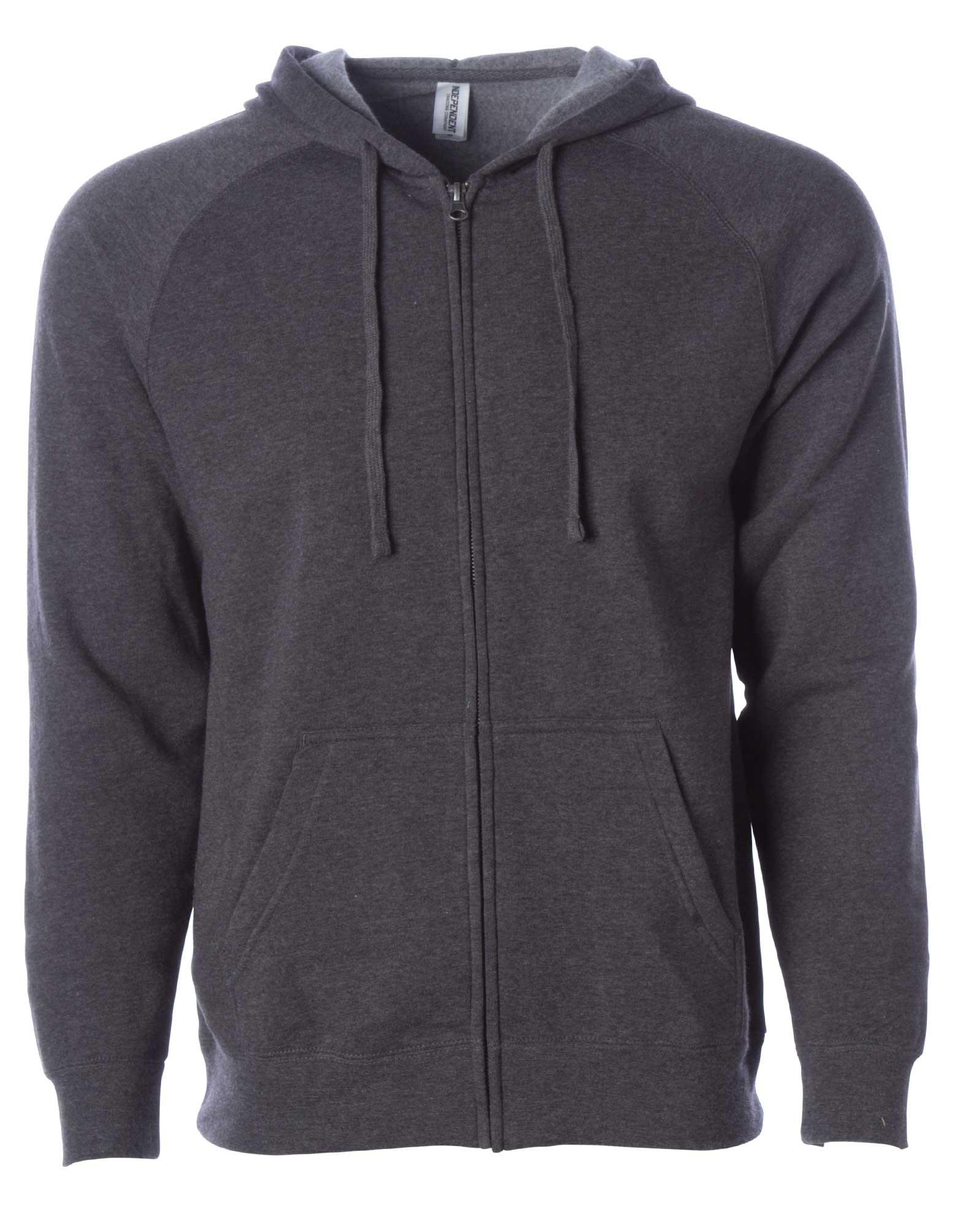 Global Lightweight Zip Up Hoodies For Men Extra Soft Fleece Hooded Sweatshirt Charcoal Grey XXXL