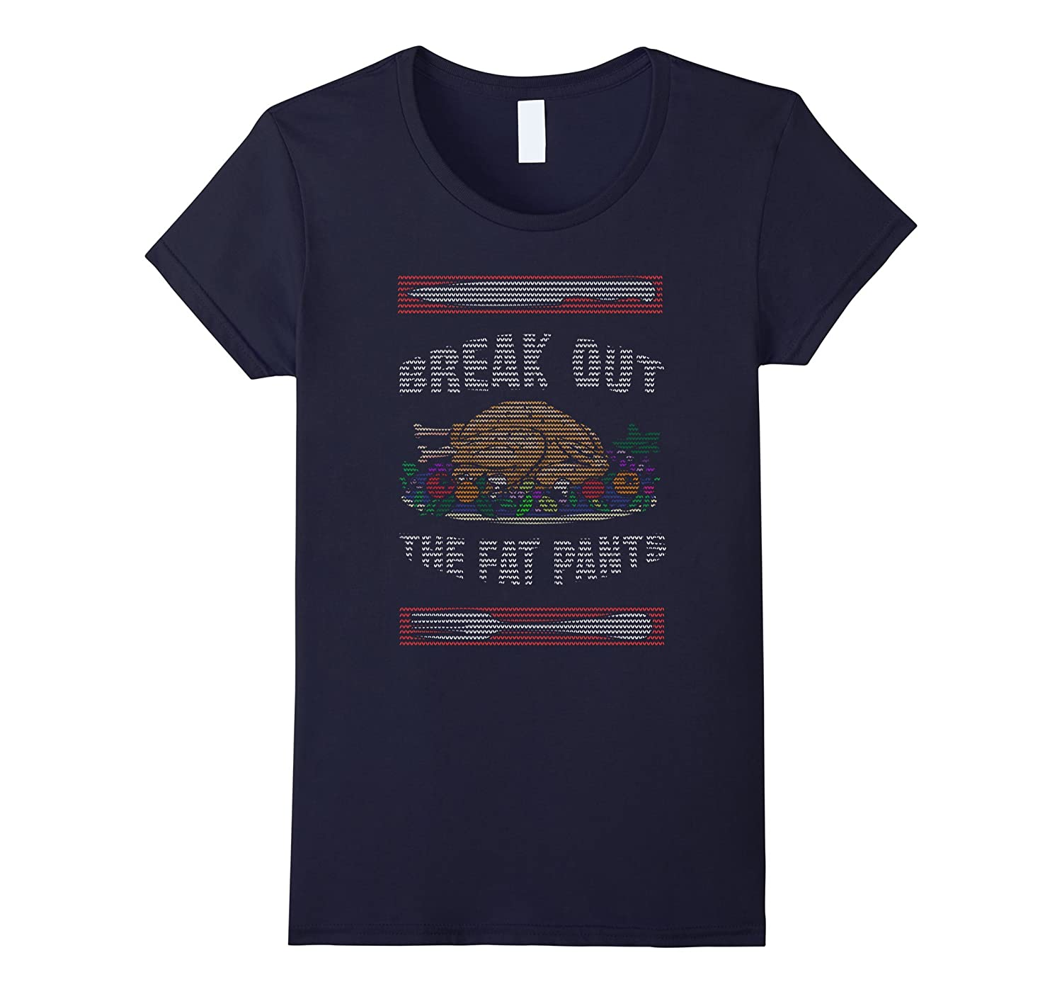 Break Out the Fat Pants Ugly Sweater Funny Thanksgiving Tee