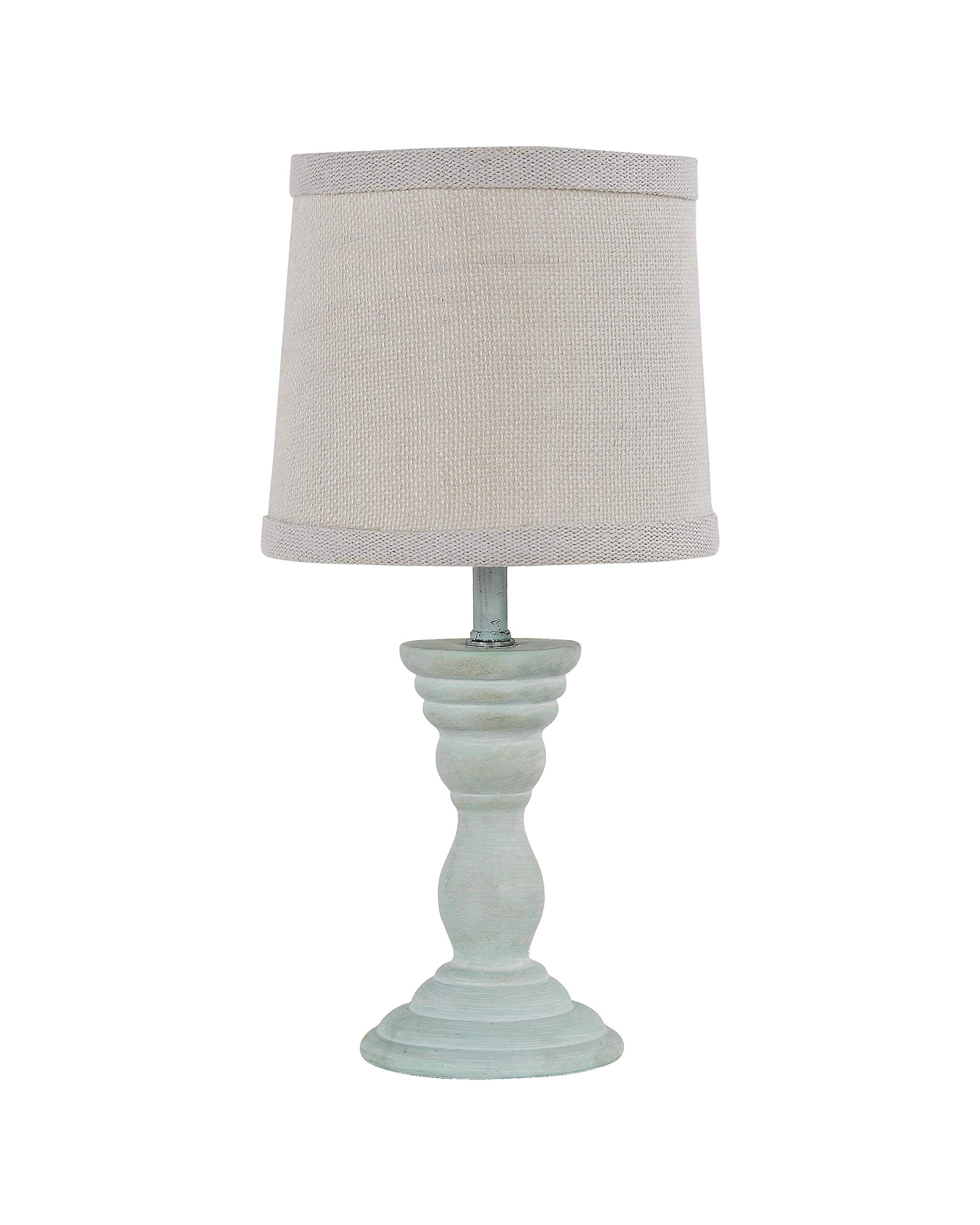 AHS Lighting L2158BL-UP1 Randolph Spa Blue Accent Lamp, 7'' x 7'' x 12''
