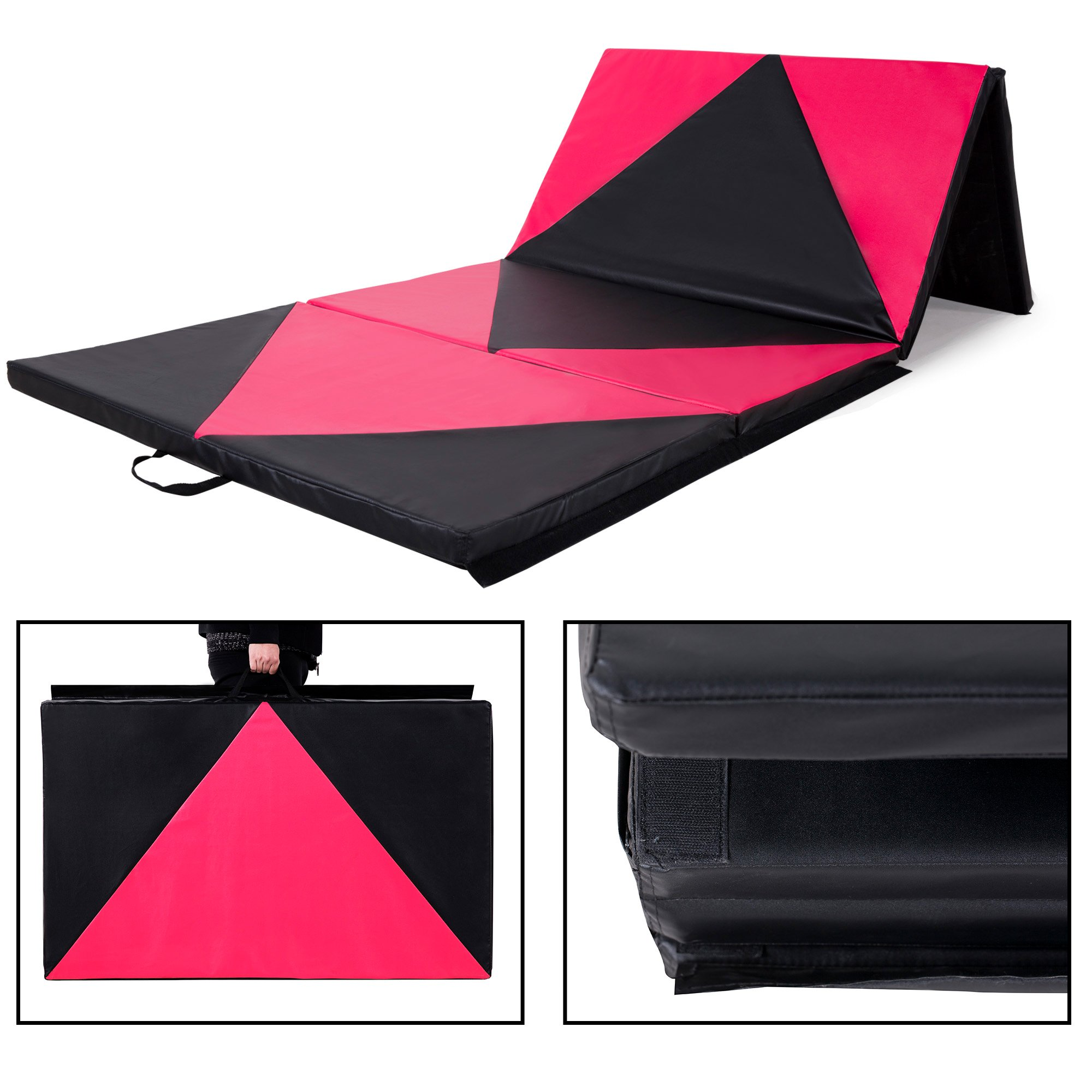 Sportmad 4'x10'x2 Thick Folding Panel Gymnastics Tumbling Mat for Home Gym Fitness Exercise