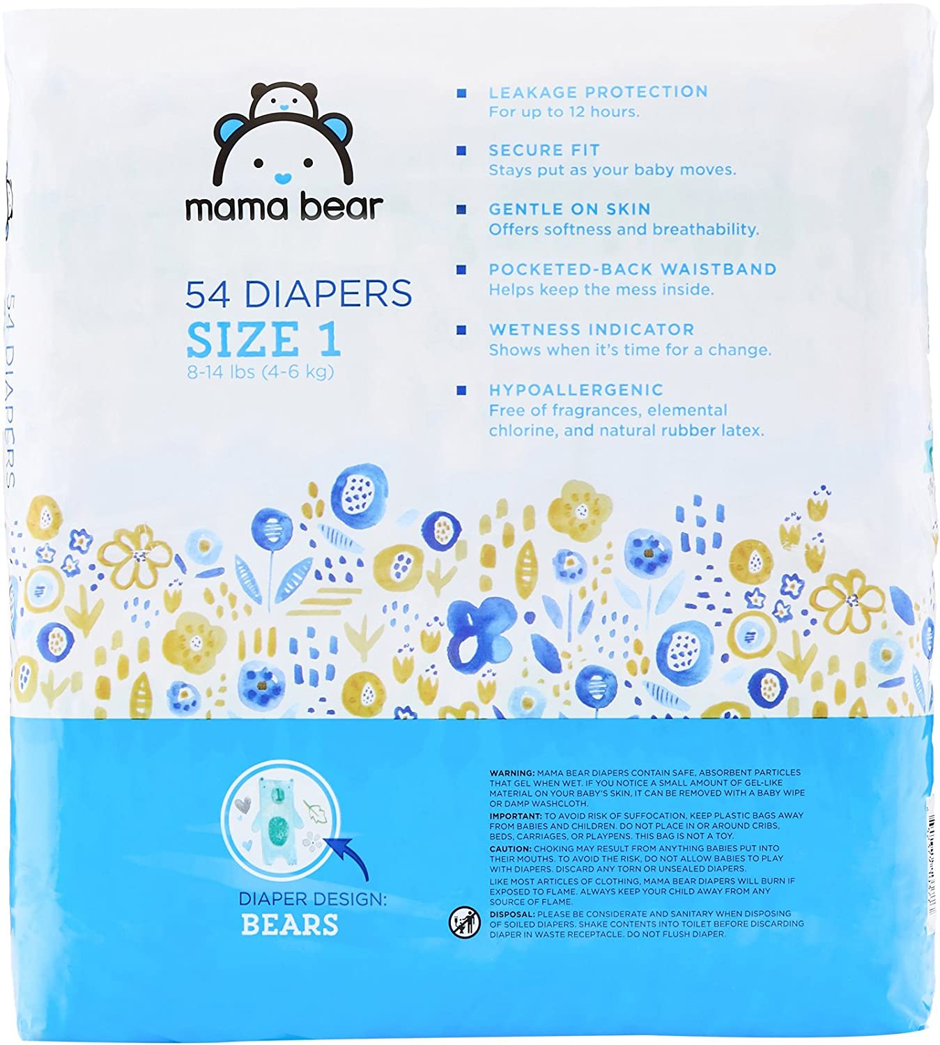 Amazon Amazon Brand Mama Bear Diapers Size 1 216 Count