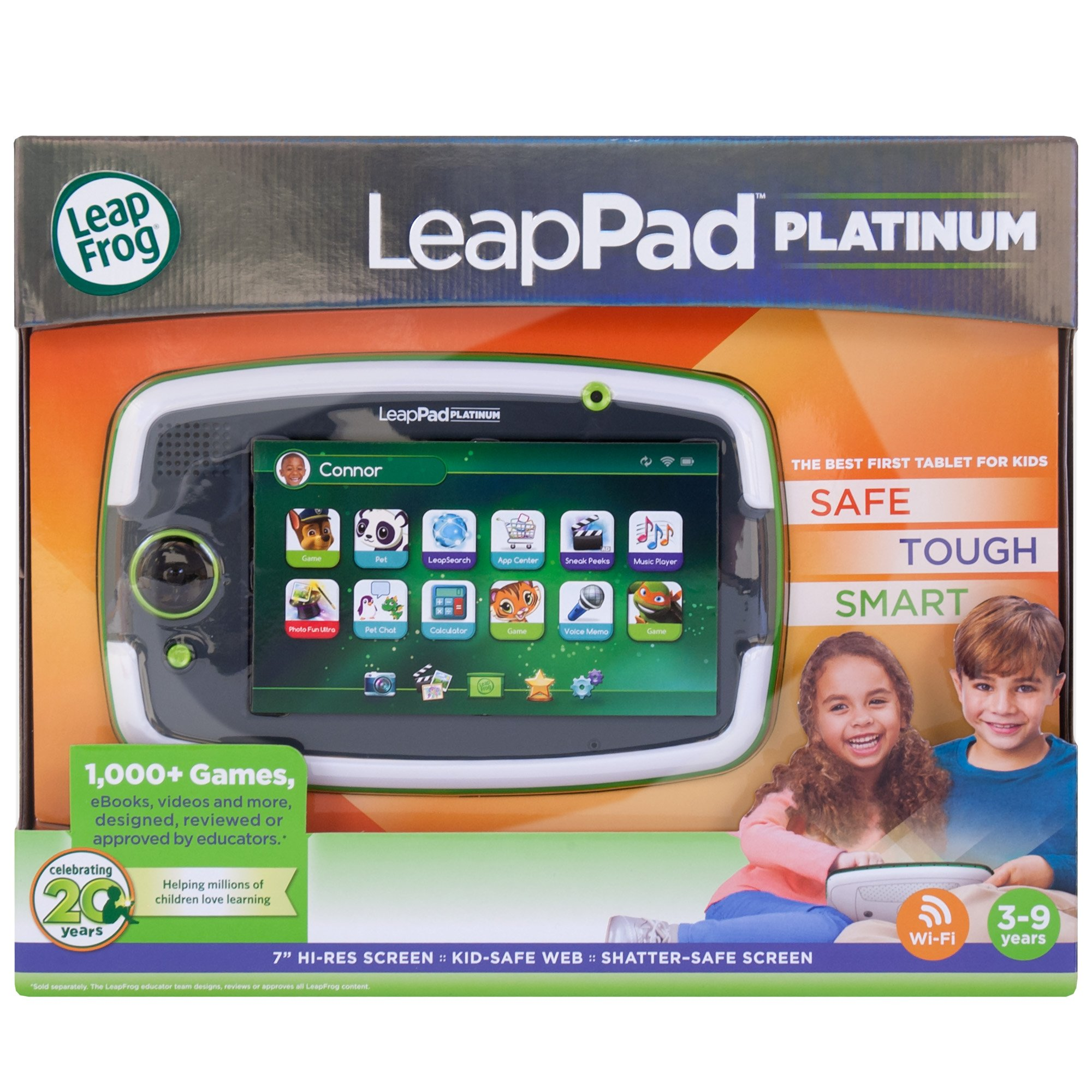 LeapFrog LeapPad Platinum Kids Learning Tablet, Green by LeapFrog. (Image #2)