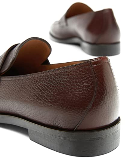 Massimo Dutti - Mocasines de Piel para Hombre Marrón marrón, Color Marrón, Talla 42 EU | 9 US | 8 UK: Amazon.es: Zapatos y complementos