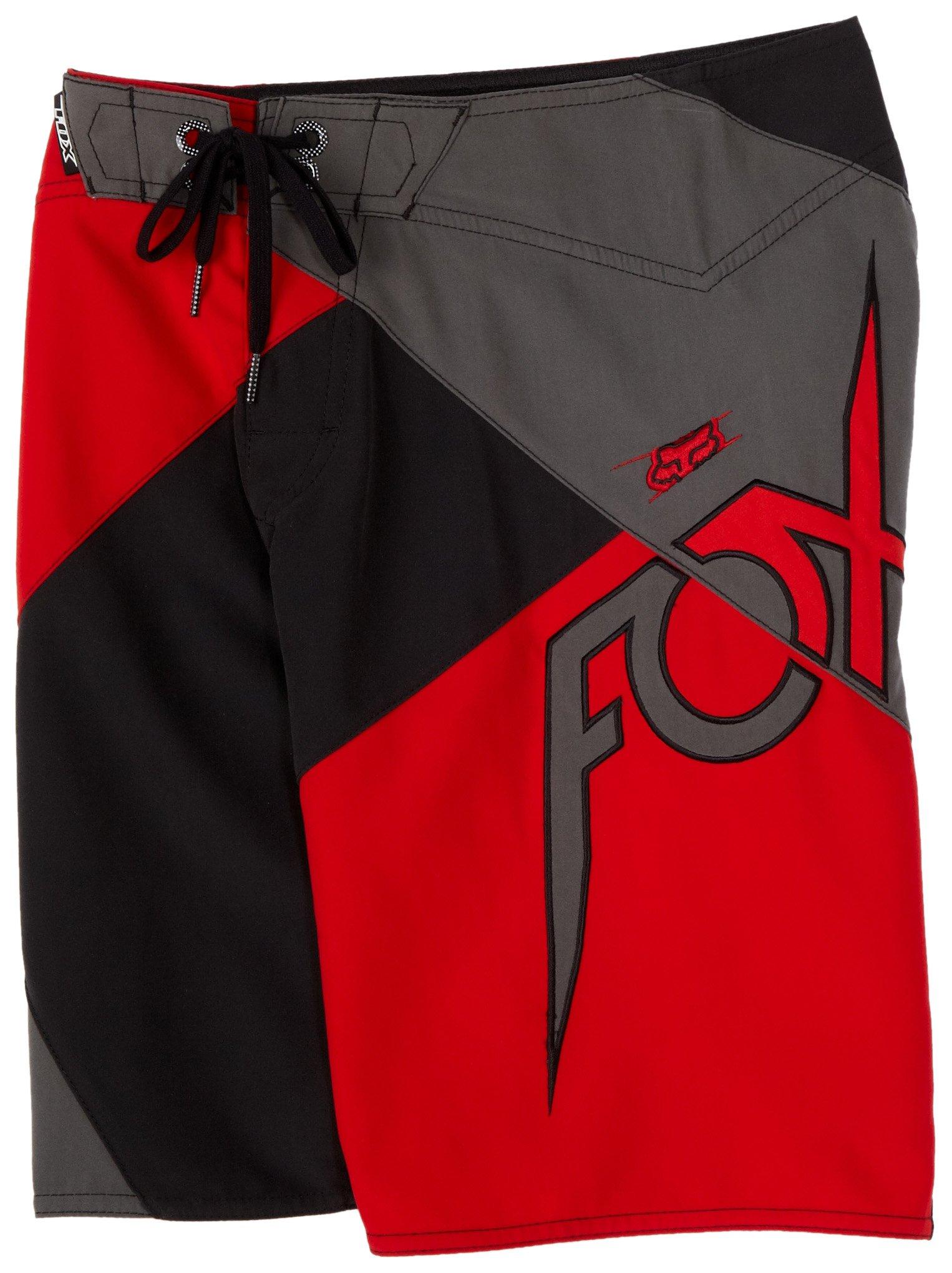 FOX Big Boys' Quadrant Boardshort,Flame Red,W24 by Fox