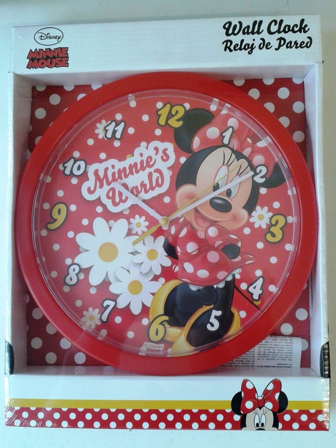 Minnie Mouse Wall Clock Disney