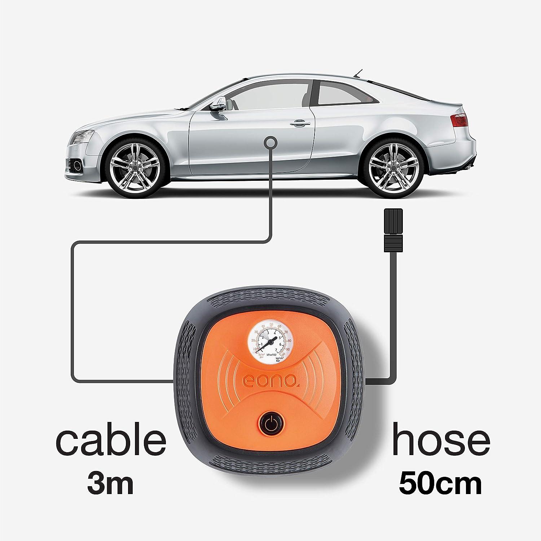 EONO Essentials Auto Kompressor Luftpumpe mit Analoganzeige