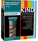 KIND Bars, Dark Chocolate Nuts & Sea Salt, Gluten Free, 1.4 Ounce Bars, 4 Count