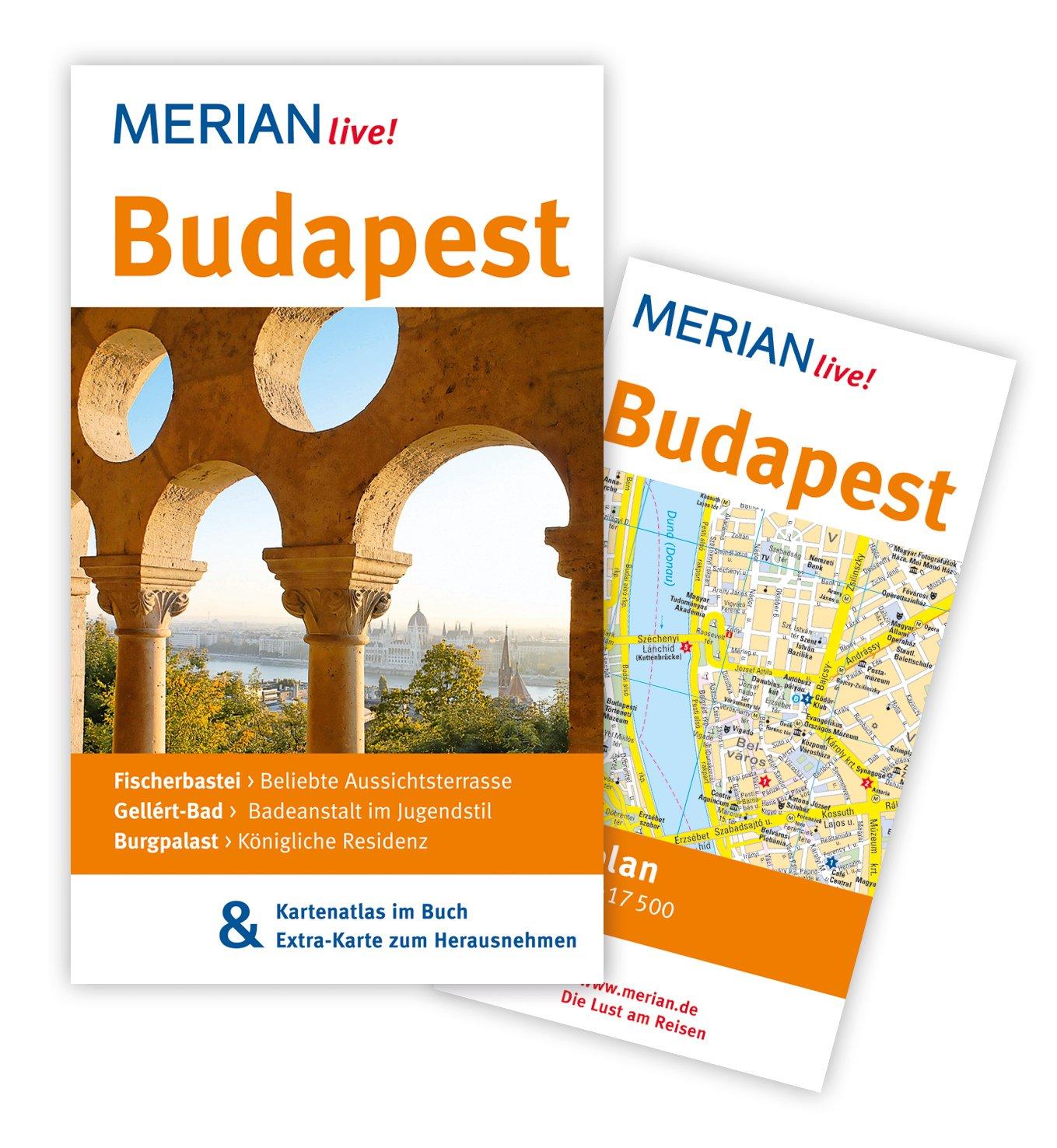 MERIAN live! Reiseführer Budapest: Mit Kartenatlas im Buch und Extra-Karte zum Herausnehmen