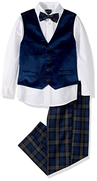 Kids 1950s Clothing & Costumes: Girls, Boys, Toddlers Nautica Boys Set with Vest Pant Shirt and Bow Tie $28.02 AT vintagedancer.com