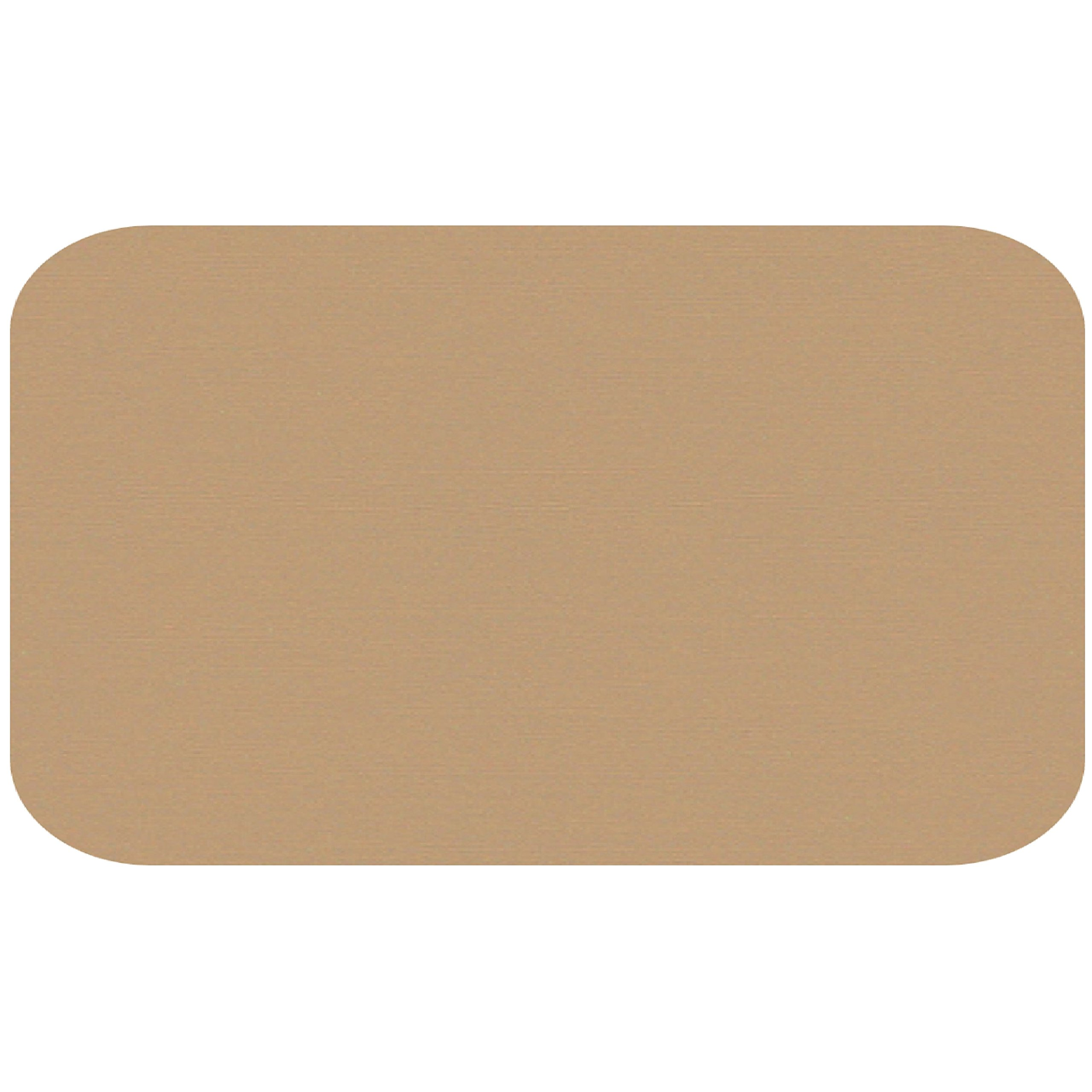 Colonial Cards: 150 Color Cardstock 3'' x 5'' Index Cards, Kraft, Unruled with Rounded Corners