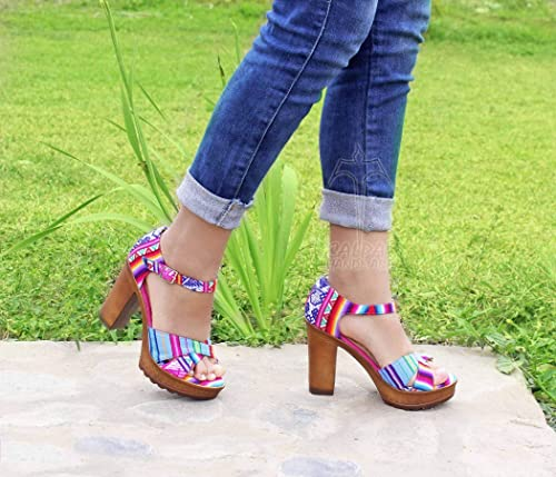 Colorful Open Toe Heels Made With