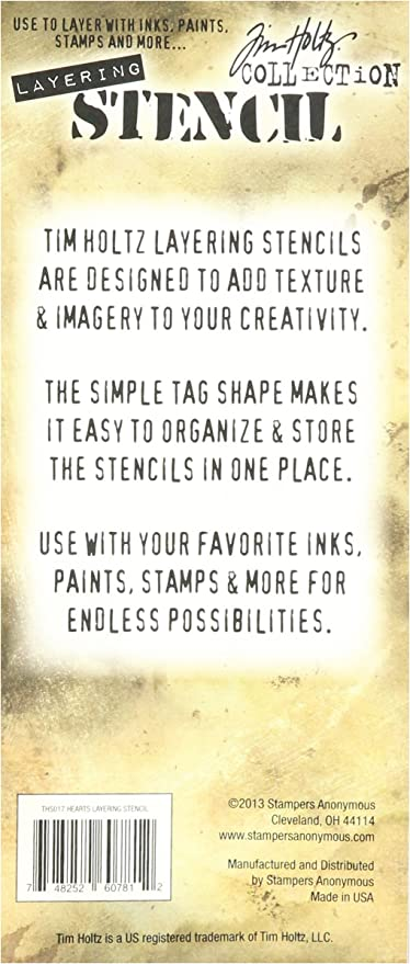 Stampers Anonymous Tim Holtz Layered Stencil Cargo 4.125 by 8.5-Inch