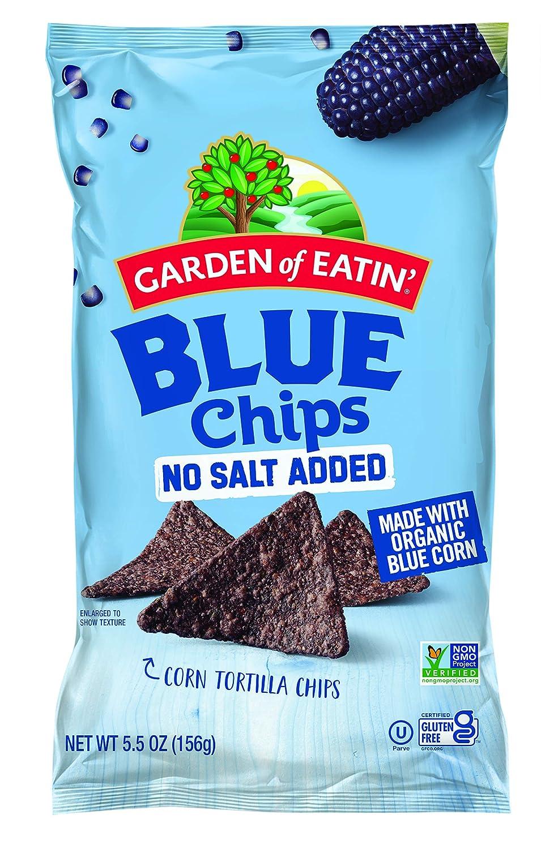 Garden of Eatin' Tortilla Chips, Unsalted, Blue Corn, 5.5 oz (Pack of 12)