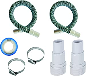 "FibroPool Professional 1 1/2"" Swimming Pool Filter Hose Replacement Kit (3 Feet, 2 Pack)"