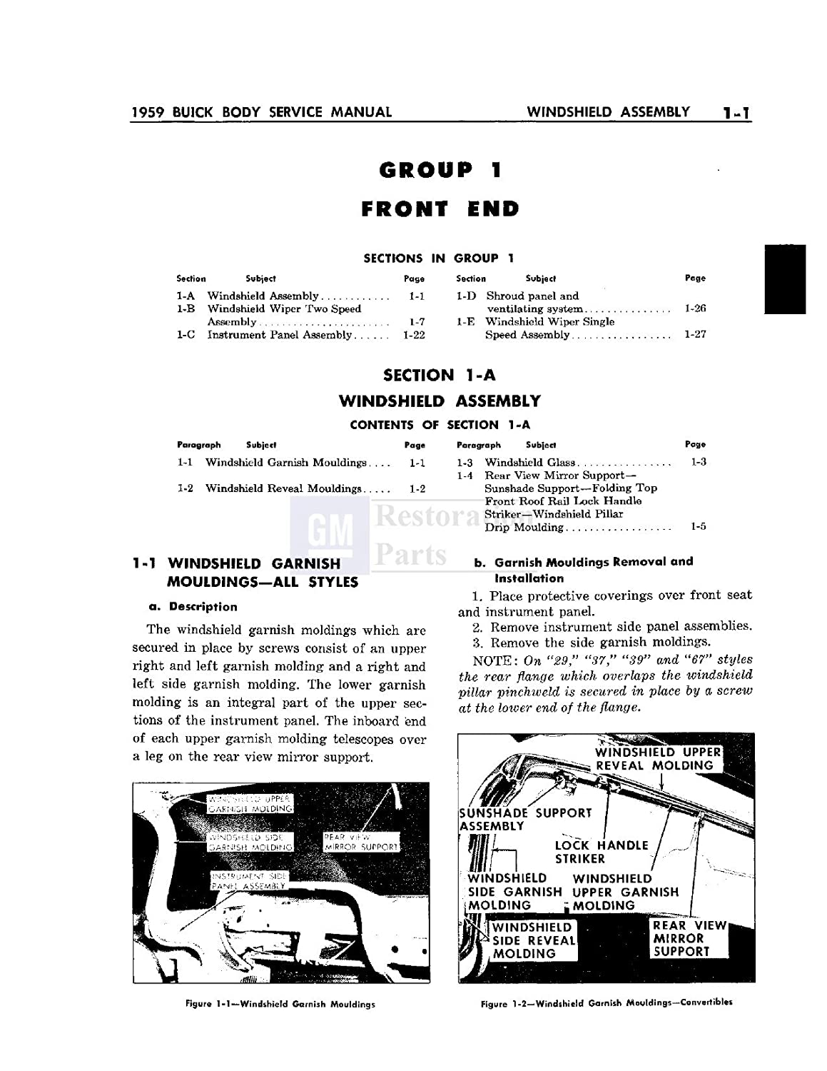 1959 Buick Body Shop Service Repair Manual Book Engine Ford 8n Wiring Diagram Restoration And Tips Drivetrain Electrical Oem Automotive