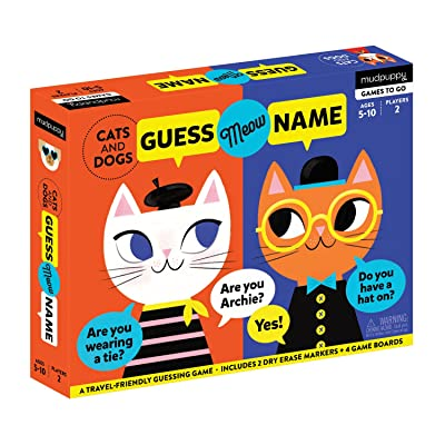 Mudpuppy 9780735355637 Cats & Dogs Guess Meow Name Kids Travel Game, Ages 5 & Up, Multicolor: Toys & Games