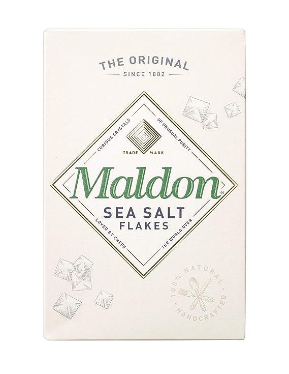 Maldon Sea Salt Flakes, 250g Salt at amazon