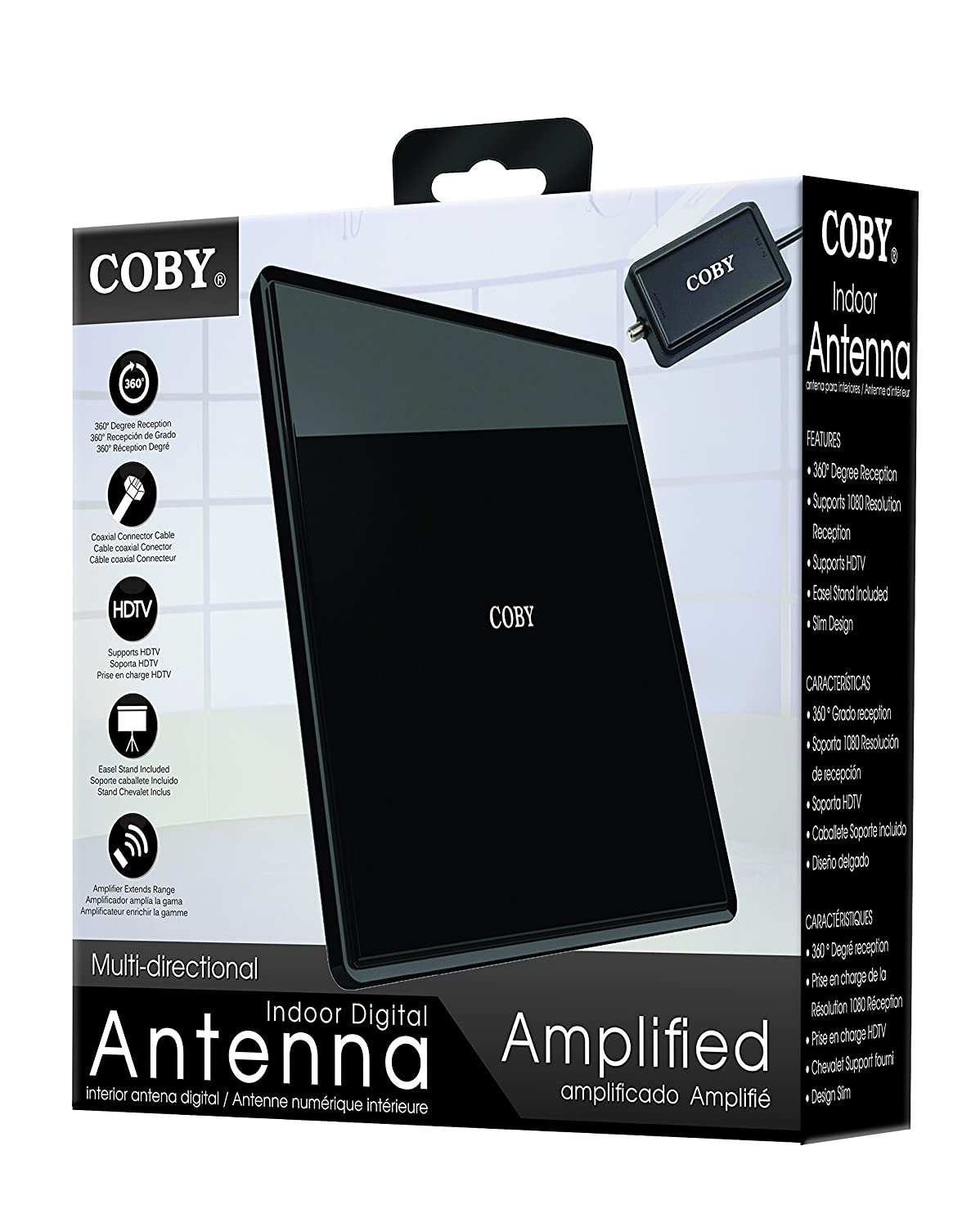Amazon.com: Coby Multi Directional Indoor Digital/Video Antenna (CBA-07): Home Audio & Theater