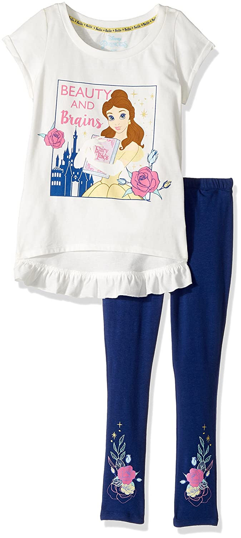 df13508704c35 Amazon.com: Disney Girls' Belle 2-Piece Legging Set: Clothing