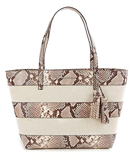 18119cb18481 Michael Michael Kors Tasseled Snake‑Print Striped Canvas Large: Handbags:  Amazon.com