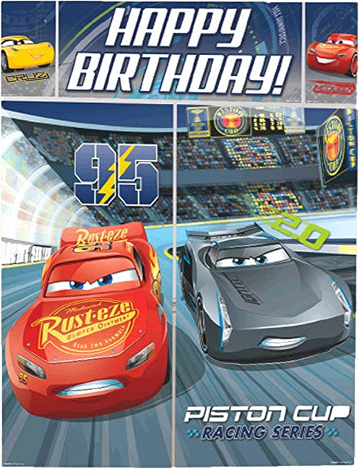 Amazon.com: Disney Cars 3 Lighning McQueen Kids Party Escena ...