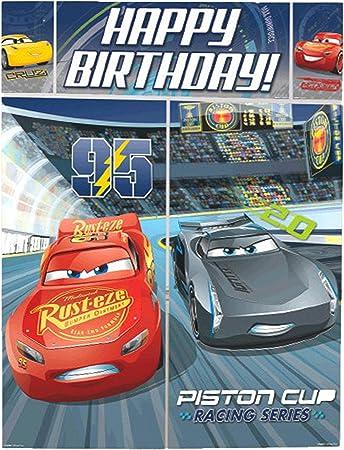 Amazon.com: Disney Cars 3 Lighning McQueen Kids Party Escena ...