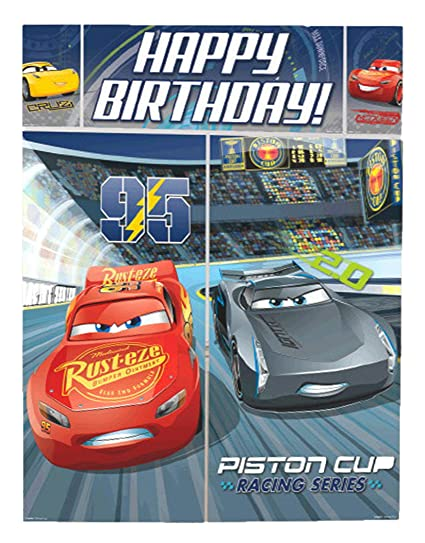 Disney Cars 3 Lighning McQueen Kids Party Scene Setter Wall Decorations Kit