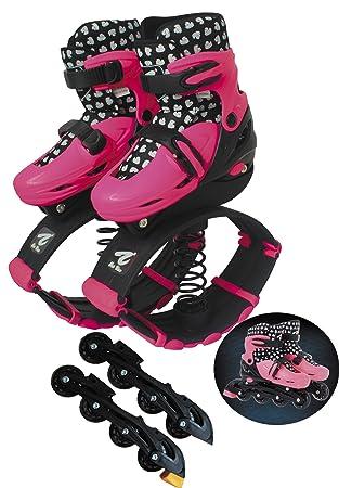 Patines en línea ajustable con saltando y antigravedad Running Fitness ejercicio zapatos botas para niños: Amazon.es: Juguetes y juegos