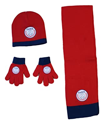 PSG ensemble bonnet echarpe gant paris saint germain Neymar Article sous  licence officielle e010ae767ae