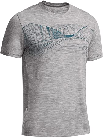 ac0ec38e38 Icebreaker Tech Lite Men's Short-Sleeved T-Shirt Seven Summits - grey -  Large