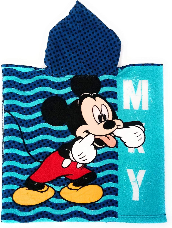 Disney Asciugamano Poncho con Cappuccio Topolino in Microfibra 55 x 110 cm