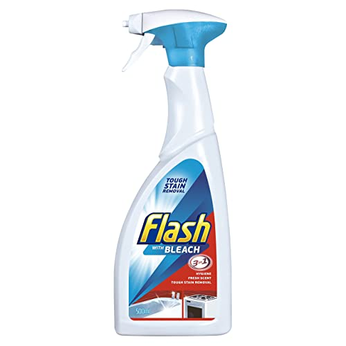 Flash with Bleach 3-in-1 Spray Cleaner, 500 ml