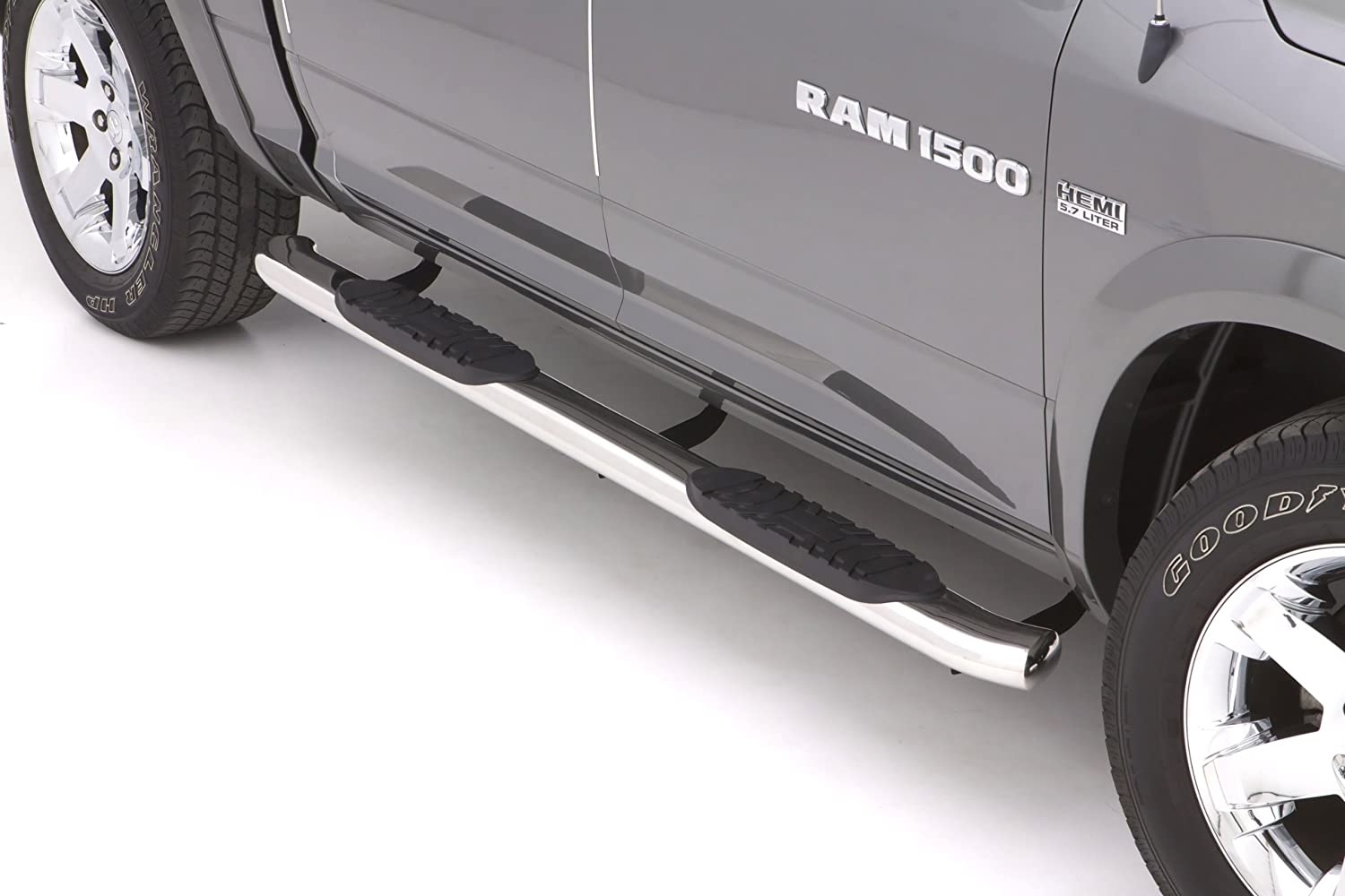 Lund 23795007 Polished Stainless Steel 5 Oval Curved Nerf Bars for 2007-2018 Toyota Tundra CrewMax Cab