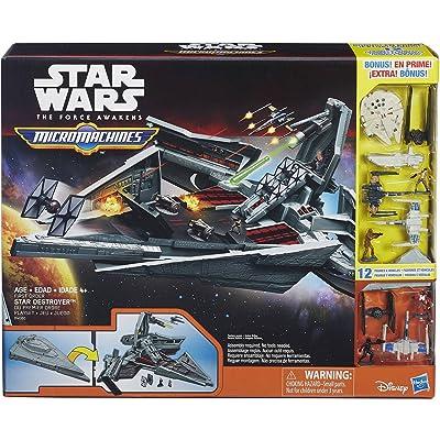 Hasbro Disney Star Wars Micro Machines Star Destroyer Bonus 12 Figure and Vehicle Playset: Toys & Games [5Bkhe0205766]