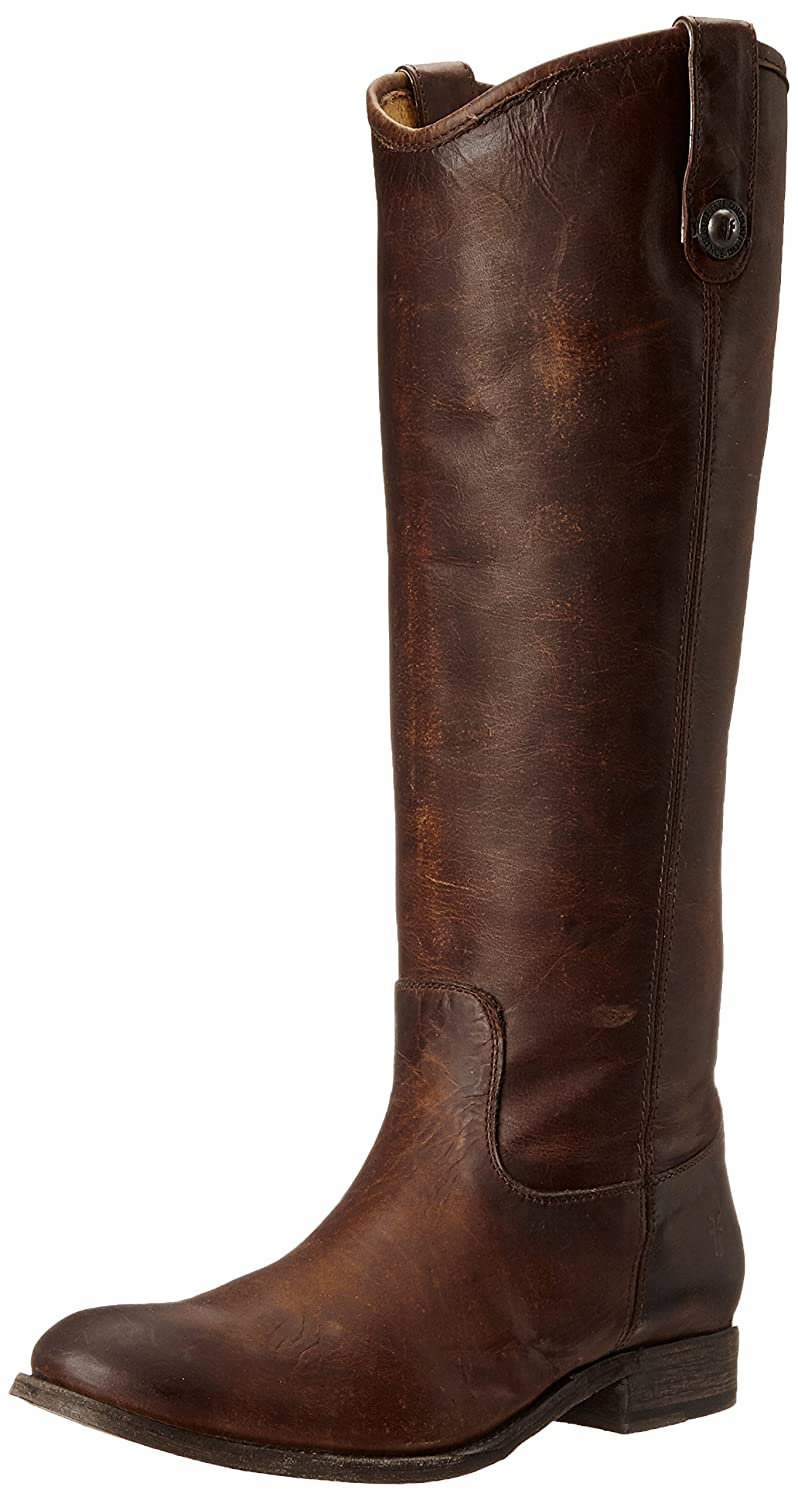 FRYE Women's Melissa Button Boot B00IMIED1O 8.5 B(M) US|Dark Brown Washed Antique Pull-up-77172