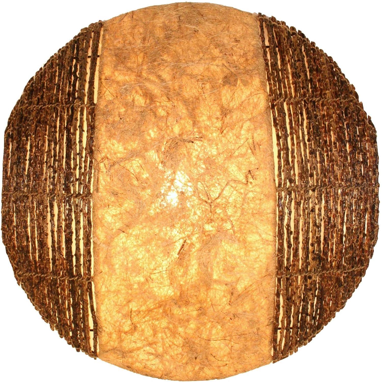 Guru-Shop Wandlampe Wandleuchte Sulawesi - in Bali Handgefertigt aus Naturmaterial, Naturmaterial, Naturmaterial, Luftwurzel, 50x50x15 cm, Dekolampe Stimmungsleuchte 3be2a6