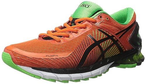 8df1313bee21 ... coupon for asics mens gel kinsei 6 running shoe fiesta black green  gecko 99580 d4c29