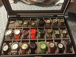 watch box watch boxes 10pc watch box w drawer in black louis review image>