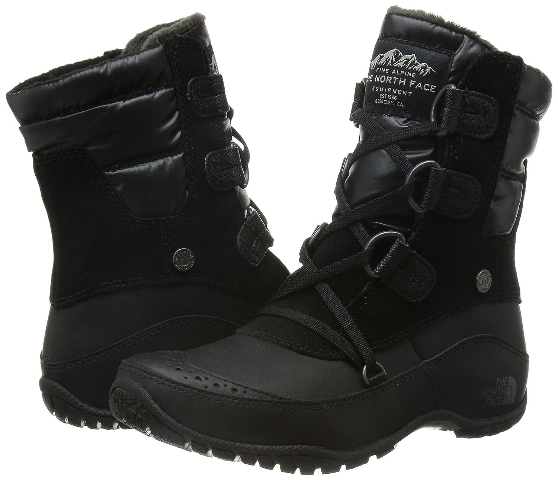 The North Face Nuptse Purna Shorty Boot Women's B00RW5NORC 8 B(M) US|Tnf Black/Plum Kitten Grey (Prior Season)
