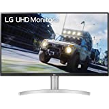 """LG 32UN550-W 32-Inch UHD (3840 x 2160) VA Monitor with HDR 10, AMD FreeSync and Itle/Height Adjustable Stand (31.5"""" Diagonal)"""